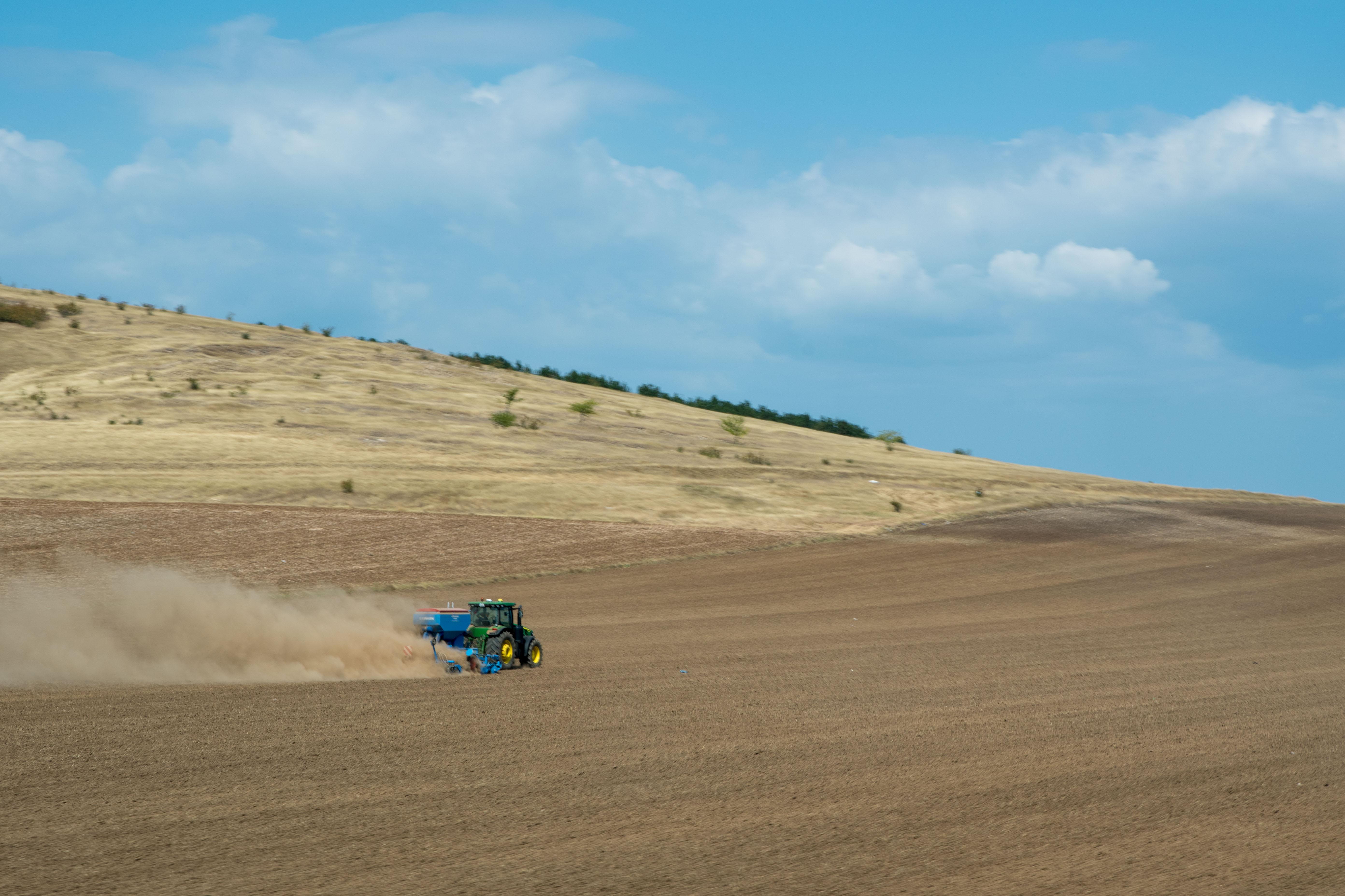 Des plaines destinées à l'agriculture
